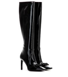 Balenciaga - Patent leather boots - Balenciaga opts for modern femininity  with these patent leather boots e933b36d0b