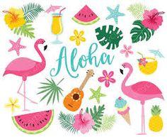 Tropical Birds, Flamingos, Beach by MyClipArtStore on Flamingo Birthday, Flamingo Party, Tropical Birds, Tropical Plants, Flamingo Vector, Pineapple Cocktail, Vector Clipart, Vector Graphics, Ideas Party