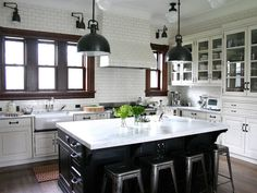 Love the black kitchen island! http://www.hgtv.com/kitchens/kitchen-cabinet-styles/pictures/page-2.html?soc=pinterest