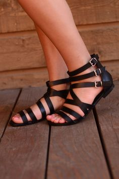 Here to Stay Sandals - Black