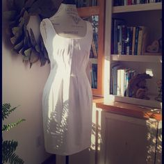 Flattering white NWT dress  Such a sweet, flattering white summer dress  can't really decide if I should even sell it! Lol! Calvin Klein Dresses