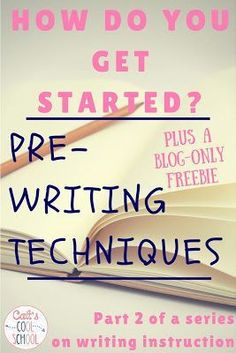 Cait's Cool School: The one about teaching writing (Step 2: Pre-Writing)