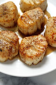 Perfectly Seared Scallops Fish Recipes, Seafood Recipes, Low Carb Recipes, Cooking Recipes, Healthy Recipes, Clam Recipes, Seafood Meals, Healthy Scallop Recipes, Carne Asada
