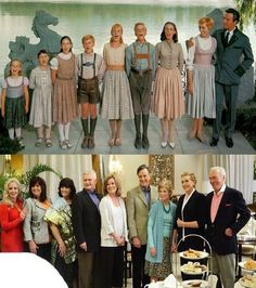 WHOAAA. Sound of Music cast 45 years later! Skirts so perfectly in line