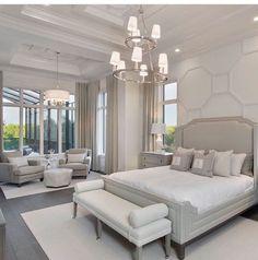 Idee für großes Schlafzimmer Idea for large bedroom Dream Master Bedroom, Master Bedroom Design, Home Decor Bedroom, Modern Bedroom, Bedroom Ideas, Bedroom Designs, Bedroom Furniture, Luxury Bedroom Design, Home Interior Design