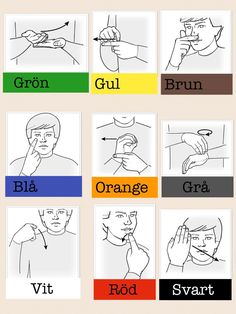 Sign Language Book, Learn Swedish, Au Pair, School Signs, Colorful Fish, Learn To Read, Crafts For Kids, Teaching, Books