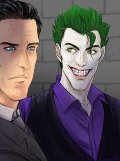 John Doe (joker) and Bruce Wayne from Batman the enemy within Bat Joker, Gotham Joker, Joker And Harley Quinn, Gotham City, Batman Telltale, Batman Quotes, Dc Comics Characters, Book Characters, Good Omens Book