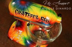 Tie Dye Custom Painted KitchenAid Mixer, Grateful Dead Inspired foodie Event. By Nicole Dinardo of Un Amore
