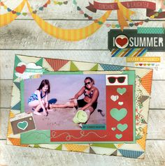 I {Heart} Summer. Layout by Deanna13