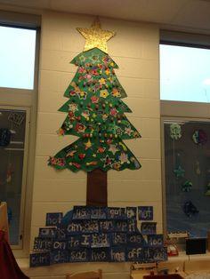 Word Wall Christmas Tree