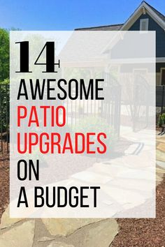 Do you want to make over your outdoor patio on a budget? check out these easy and cheap DIY projects to update your outdoor space. #hometalk Diy Patio, Backyard Patio, Backyard Landscaping, Rustic Outdoor Decor, Rustic Patio, Outdoor Projects, Diy Projects, Pallet Patio Furniture, Furniture Ideas