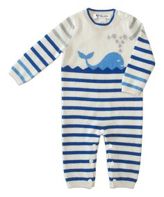 Look at this Jasper Blue Stripe Whale Cashmere Jumper - Infant on #zulily today!
