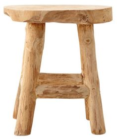 Whether adorning your indoor workspace or your exterior potting shed, this reclaimed teak stool will be a—ahem—natural fit wherever it's placed.