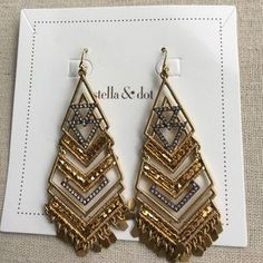 "I just added this to my closet on Poshmark: Horizon Statement Earrings. Price: $32 Size: 3"" drop"