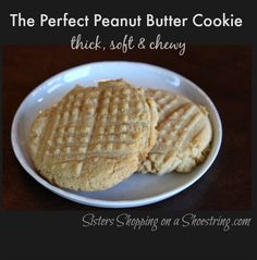 Amazing peanut butter cookie recipe. I promise it's a little richer than your typical! It will soon be your family's favorite peanut butter cookie!