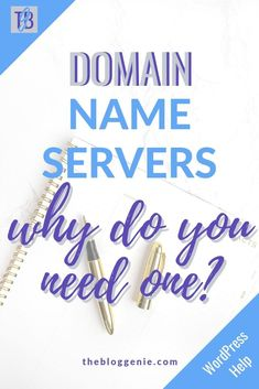 Domain name server is a really techy sounding name that you'll hear when you look into setting up your website. Often it's enough to put people off building their own site, but in this post I talk you through what they are and why you need one for your website #wordpress #domainnameserver Wordpress Help, Wordpress Website Design, Wordpress Plugins, Make Money Blogging, Make Money Online, Portfolio Web, Blog Design Inspiration, Hosting Company