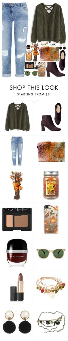"""Fall Falling"" by aprinasari ❤ liked on Polyvore featuring Chicwish, Avon, Miss Selfridge, MM6 Maison Margiela, NARS Cosmetics, Casetify, Marc Jacobs, Estée Lauder, Amrita Singh and Chanel"