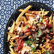 French Fries with Bulgogi and Caramelized Kimchi Recipe....must make this for Dan