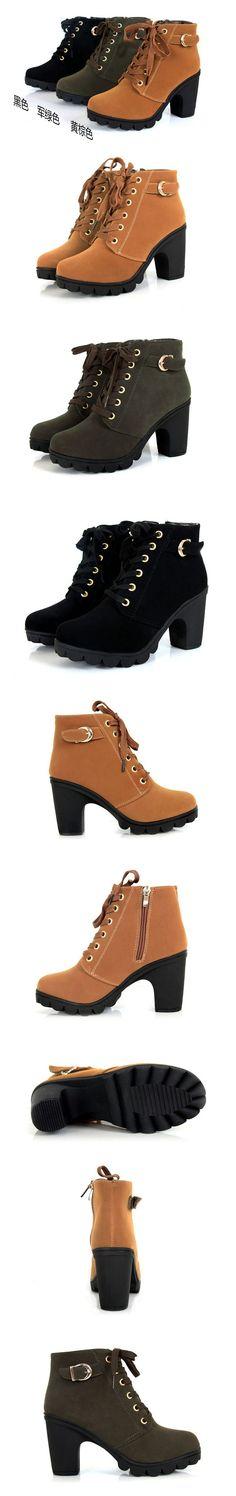 2014 martin boots platform boots thick heel platform high-heeled shoes women's shoes free shipping - Dress Like A Queen