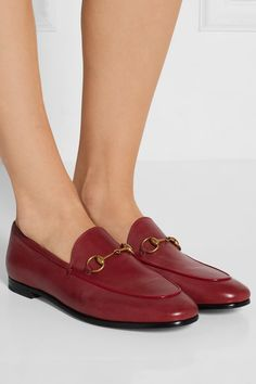 Heel measures approximately 10mm/ 0.5 inches Red leather Slip on Made in Italy