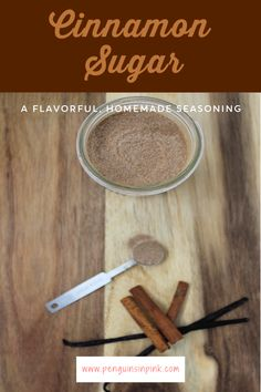 Kick up the flavor of everything from coffee to toast and oatmeal with this flavorful, homemade version of cinnamon sugar seasoning. It is a mix of vanilla sugar and cinnamon. Easy No Bake Desserts, Fun Desserts, Nutter Butter, Peanut Butter, Have A Snickers, Trifle Pudding, Heath Bars, Homemade Snickers, Breakfast Pastries