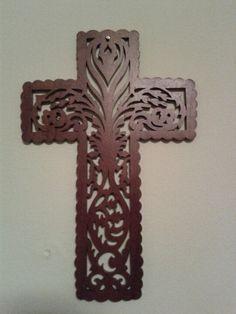 Wood scroll saw cross