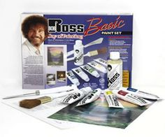 Bob Ross Basic Paint Set Painting Crafts division of Hofcraft The Painters Source Bob Ross Paint Set, Fathers Day Art, Happy Little Trees, Paint Supplies, Painting Techniques, Landscape Paintings, Joy, People, Gifts