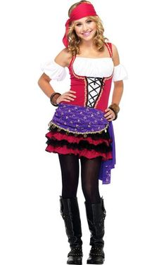 Crystal Ball Gypsy Costume for Teen Girls - Halloween City Costumes For Teenage Girl, Halloween Costumes For Teens Girls, Tween Costumes, Halloween Costumes For Girls, Costume Halloween, Halloween Makeup, Holiday Costumes, Halloween Parties, Family Costumes