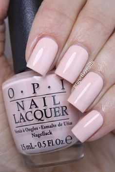 opi Stop I'm Blushing! is a gorgeous pastel peach cream