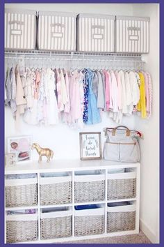 gender neutral baby nursery closet ideas - easy DIY nursery closet organization ideas nursery Baby Closet Ideas: 47 Nursery Closet Organization, Storage and Baby Closet Organizer Ideas Baby Room Boy, Baby Nursery Closet, Baby Nursery Diy, Baby Nursery Neutral, Baby Room Decor, Diy Baby, Budget Nursery, Diy Nursery Decor, Baby Room Ideas For Girls