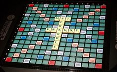 The world's most advanced #scrabble board comes complete with LEDs, RFID chips and software that transmits the game to the Internet in real t...