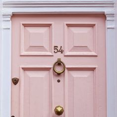 Think i might do pink on the inside of the front door, bit diff