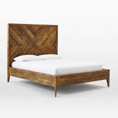Alexa Reclaimed Wood Bed | West Elm - we could totally make this.