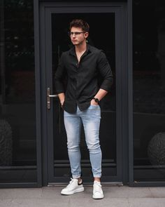"""Same as my previous """"Casual Wear"""" pin. Displaying a more """"put together"""" look but still casual at the same time Indian Men Fashion, Mens Fashion Wear, Mens Fashion Blog, Style Fashion, Mens Smart Casual Outfits, Formal Men Outfit, Men Casual, Casual Wear, Men Dress Up"""
