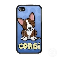 Blue Cartoon Brindle Cardigan Welsh Corgi Iphone Covers