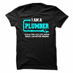I'm A Plumber T-Shirt & Hoodie for men