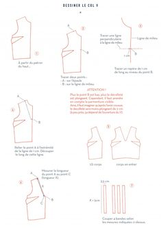 coudre un col V Coin Couture, Couture Sewing, Dress Sewing Tutorials, Sewing Hacks, Techniques Couture, Sewing Techniques, Gym Shirts, Pattern Blocks, Blog