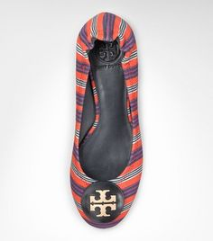 Printed Canvas Reva Ballet Flat | Womens All Revas | ToryBurch.com