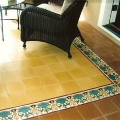 Avente Tile Project: Cement tile #rug for any living area