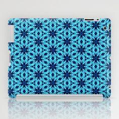 blue Knitting iPad Case