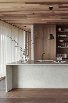 Nordic Kitchen, Scandinavian Kitchen, Modern Kitchen Design, Interior Design Kitchen, Modern Design, Küchen Design, House Design, Wood Interiors, Cuisines Design