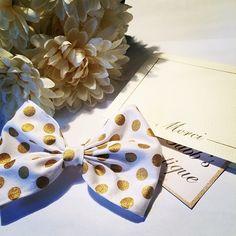 A classy bow for a classy KY gal ✨ #katespade #gold #polkadots #bow #hair