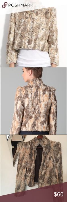 Alice + Olivia faux Fur Jacket Alice + Olivia. Gorgeous fox fur jacket you can close it or keep it open. It has high shoulder, cute stylish look, fashionable collarbone and shows your wrists. It's a gorgeous jacket to wear with just about anything. Statement piece that's comfortable effortlessly fashionable and stylish. I've got tons and tons of compliments on this jacket. It's in great condition i love this jacket!!!!I'm making room for in my closet. Making offer in this beauty will be…