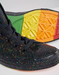 Converse | Converse Pride Rainbow Speckle Chuck Taylor High Top Trainers at ASOS