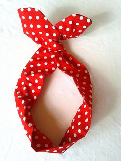 Rockabilly Pin Up Haarband Rot Polka Dot Rot von magmaAccessoires, €7.20