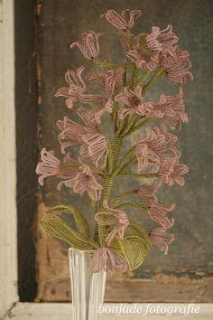 Fleur en fil de laine