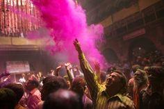 Holi Hindu festival of color. India.
