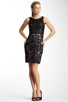 Sue Wong Short Satin Florette Dress