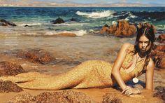 L'Officiel Paris May 2012, gold mermaid