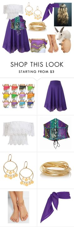 """""""Esmeralda Costume"""" by themaidofblood ❤ liked on Polyvore featuring Lauren Ralph Lauren, Lana, The Limited and Rosantica"""